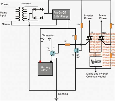Solid State Inverter Mains Changeover Circuits Using