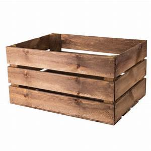 large, rustic, wooden, crate