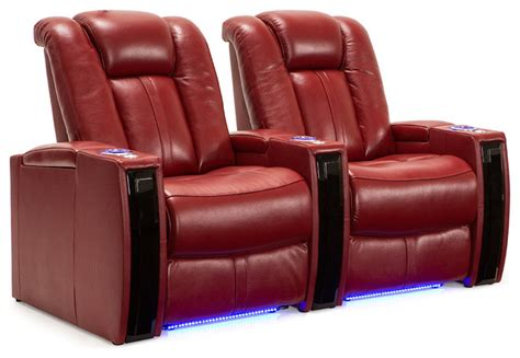 seatcraft monaco home theater seating scarlet leather