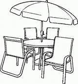 Coloring Table Chairs Chair Pages Dining Umbrella Clip Clipart Drawing Library Printable Getdrawings Furniture Popular Getcolorings Coloringhome sketch template