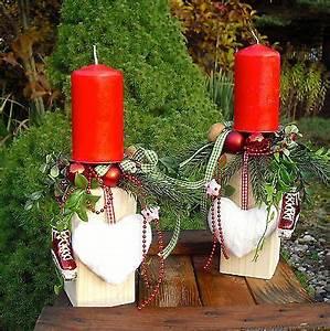 Adventskranz Rot Selber Machen : tischdeko adventskranz weihnachten deko holzpfosten rot ~ Articles-book.com Haus und Dekorationen