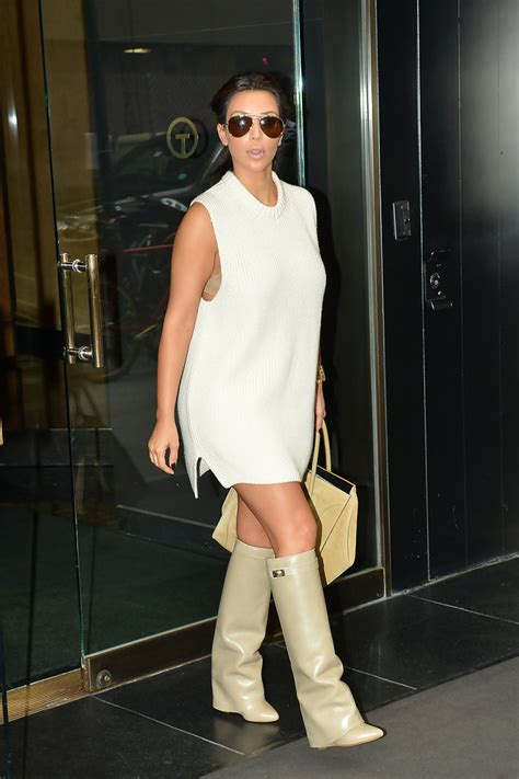 kim kardashian sweater dress kim kardashian