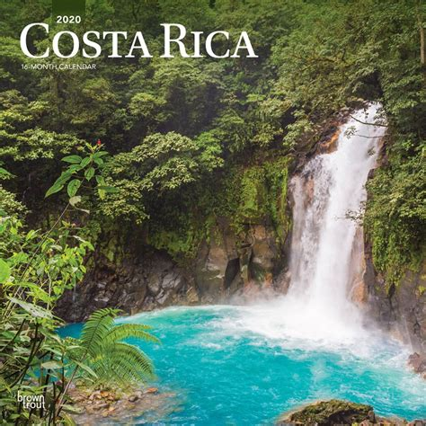 costa rica monthly square wall calendar central