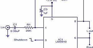 Wiring  U0026 Diagram Info  Lm4910 Stereo Headphone Amplifier