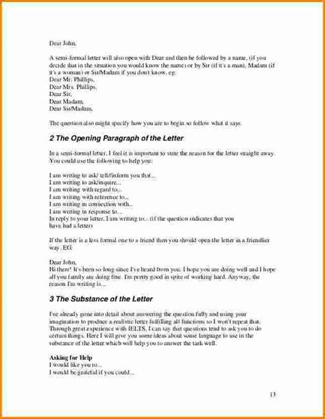 write  semi formal letter outlineformatsample