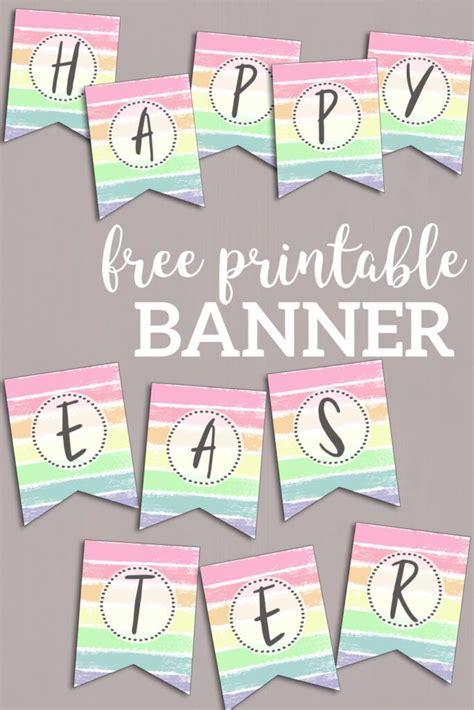 printable pastel banner letters paper trail design