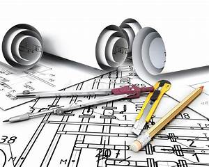 Engineering Tools On The Drawing Plans  Stock Illustration