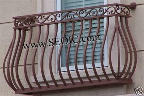 details  wrought iron  aluminum false balcony