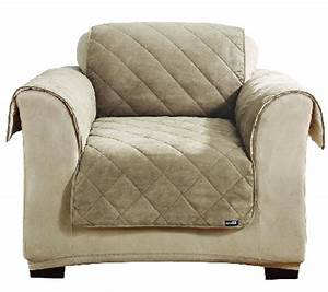 sure fit reversible faux suede sherpa chair furniture With furniture covers with pockets