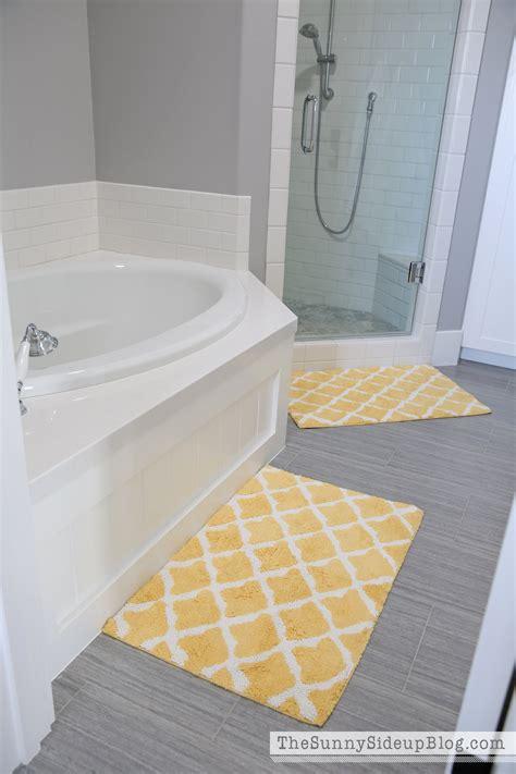 yellow bath rugs bathroom decor the side up