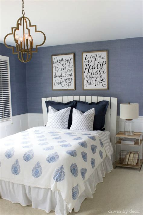 blue and white bedrooms modern coastal bedroom makeover reveal driven by decor