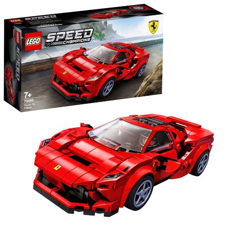 The name ferrari, the prancing horse device, all associated logos and distinctive designs are property of ferrari s.p.a. LEGO Speed Champions Ferrari F8 Tributo Car Set - 76895 - UK Toys For Kids