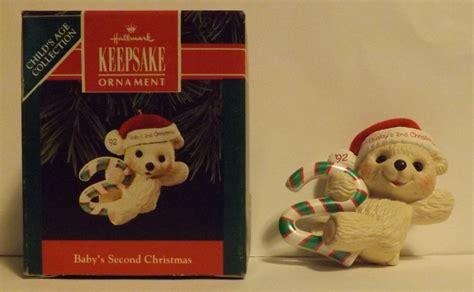 hallmark keepsake ornament baby s second christmas 1992