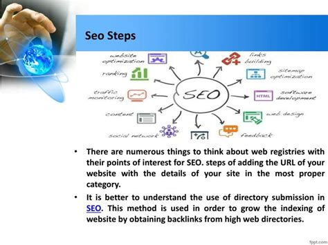 Seo Steps by Ppt Directory In Seo By Erum Mahfooz