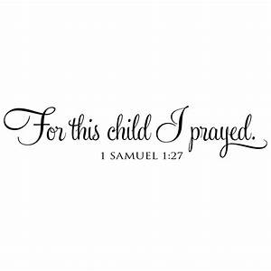 for this child i prayed vinyl wall decal by With this second circuit is from the quotwhat you need to know quot document
