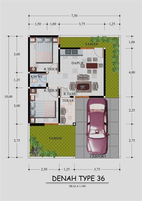 berikut model desain  denah rumah minimalis type