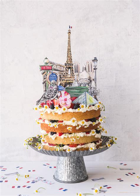 paris cake topper  confetti  house  lars built