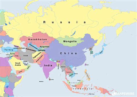 Asien Karte Länder