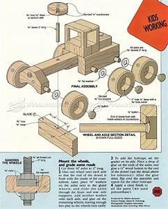 Road Grader - Wooden Toy Plans • WoodArchivist
