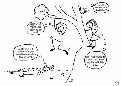 Cartoon Right Decision Decisions Making Every Leaves