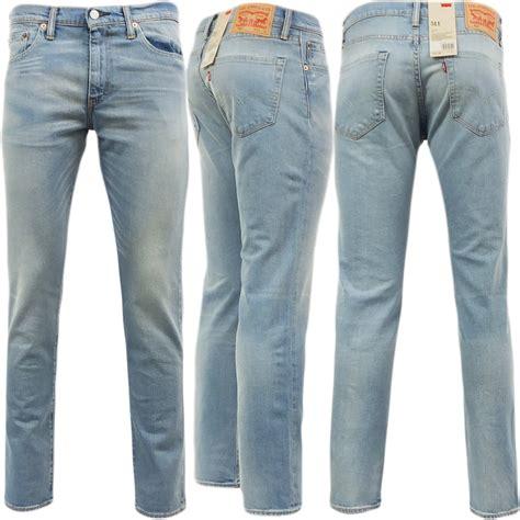 light blue jeans mens slim fit mens levi 511 slim fit jean aber light blue 30 32 34 36 38