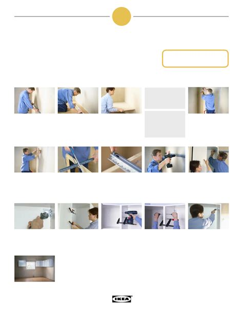 Ikea Kitchen Cabinets Installation Manual by Ikea Kitchen Installation Step By Step Poster Assembly