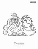 Thanos Coloring Pages Fortnite Printable Getcolorings Super Print sketch template