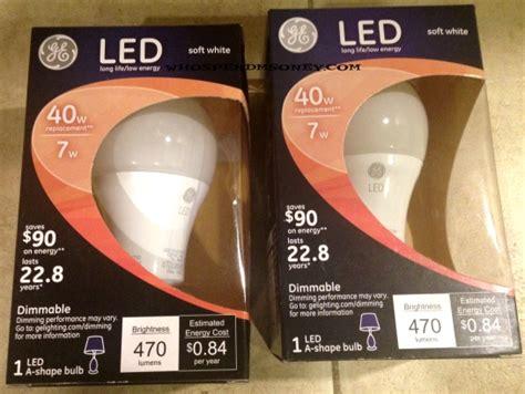 0 87 ge led dimmable lightbulb fred meyer