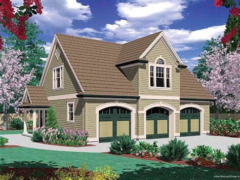 Carriage House Plans  Carriage House Plan With 3car