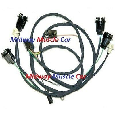 Rear Body Tail Light Wiring Harness Chevy Chevelle