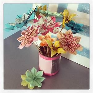 Origami Fleur Coeur D étoile : fleur en origami l 39 atelier de l 39 effet merry 39 d ~ Melissatoandfro.com Idées de Décoration