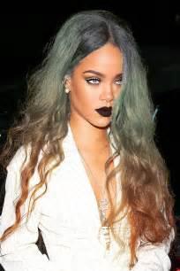 Rihanna Dark Blonde Hair Lip