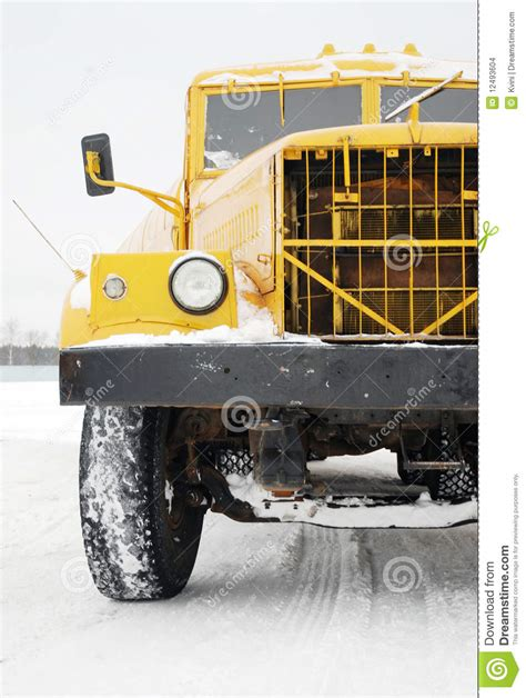 old yellow old yellow truck royalty free stock photography