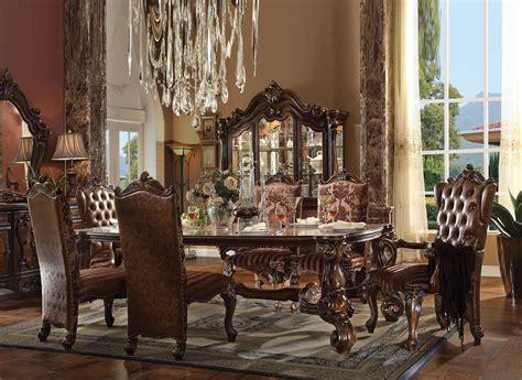 versailles rectangular table  piece dining room set