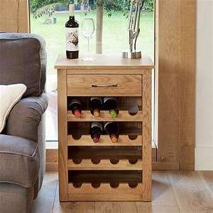 Mobel Light Oak Wine Rack Lamp Table Wooden Furniture