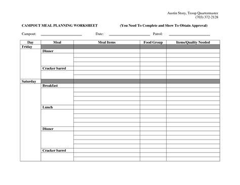 16 best images of a healthy meal plan worksheet diet meal planning worksheet food elimination