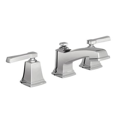 Moen Kitchen Sink Faucet Handle by Shop Moen Boardwalk Chrome 2 Handle Widespread Watersense
