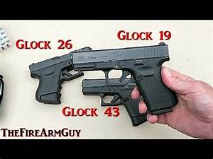 Glockl 42 vs Glock 43 vs Glock 19 Live Fire comparison ...