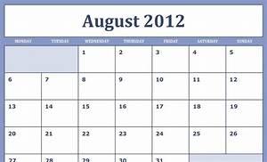 Printable Blank Monthly Calendar Printable Blank Pdf August 2012 Calendar Calendar Pdf