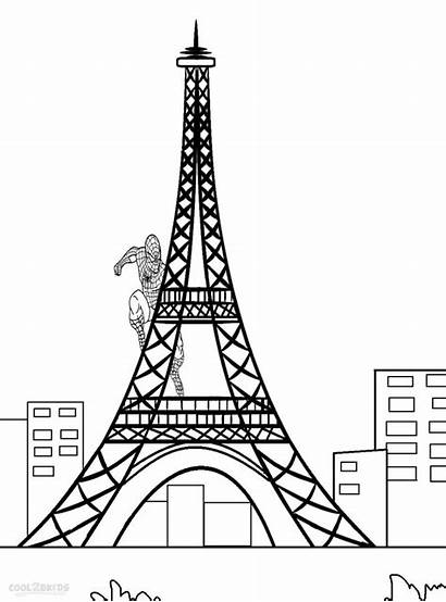 Eiffel Tower Coloring Pages Drawing Printable Colouring