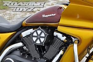 Kawasaki Vulcan Vaquero 1700 Roaring Toyz Black Straight Six Custom Air Cleaner Kit 2011 2012