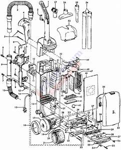 Hoover U5465 Windtunnel Upright Vacuum Cleaner Parts List