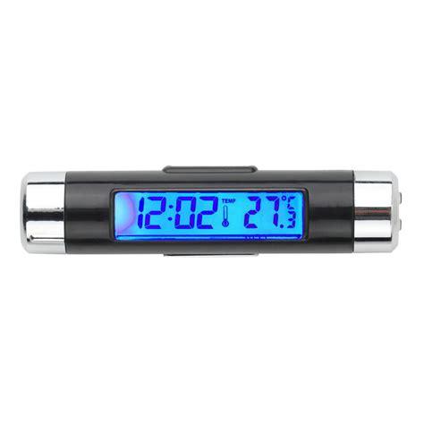 Horloge Et Thermomètre à Affichage Bleu Digitale Pour La