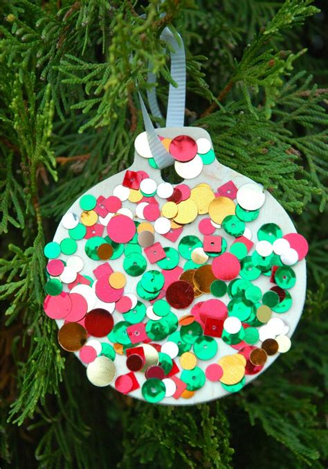 sequin ornaments christmas crafts christmas crafts