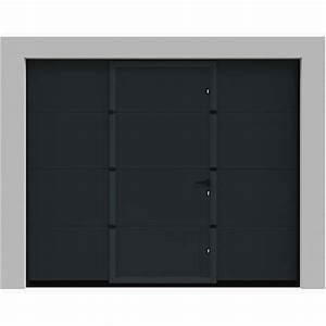 porte de garage sectionnelle avec portillon pas cher With porte de garage enroulable et portillon pvc pas cher