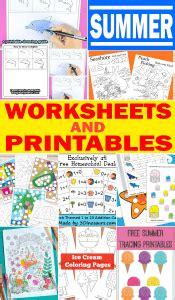 summer worksheets  printables  kids itsybitsyfuncom