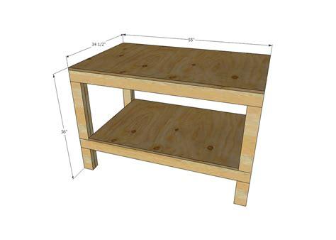 easy diy garage workshop workbench ana white