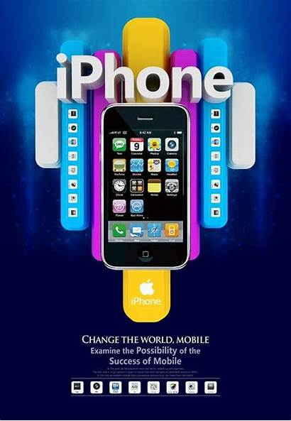 Poster Mobile Iphone Creative Advertising Template Psd