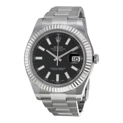 Rolex Datejust II Automatic Black Dial Stainless Steel ...