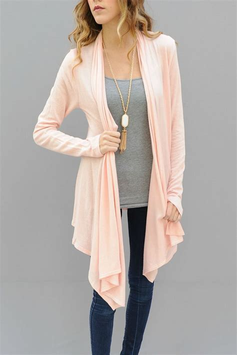 light pink sweater pink cardigan helps you style with grace